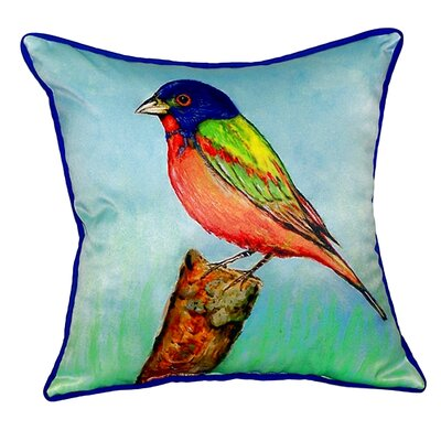 Painted Bunting Indoor/Outdoor Throw Pillow