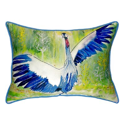 Dancing Crane Indoor/Outdoor Lumbar Pillow Size: Small