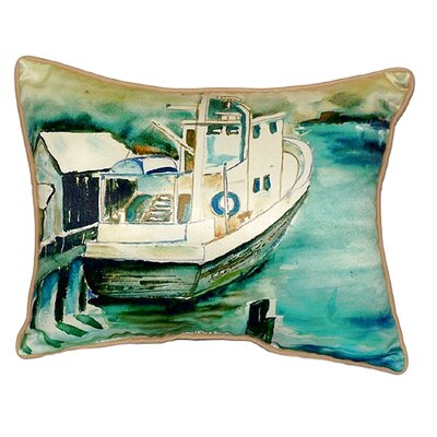 Oyster Boat Indoor/Outdoor Lumbar Pillow Size: Large