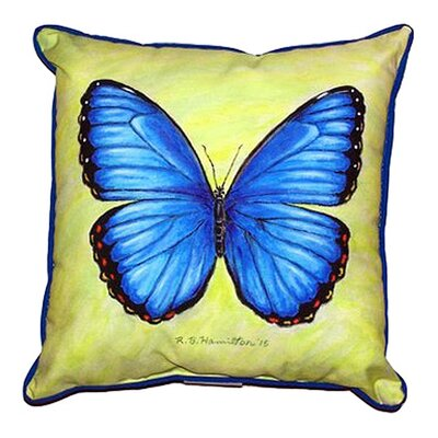 Morpho Outdoor Throw Pillow Size: Small