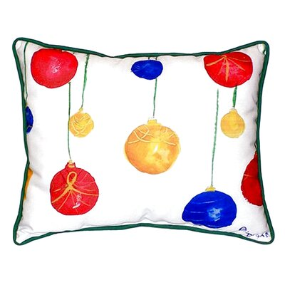 Christmas Ornaments Outdoor Lumbar Pillow Size: Large