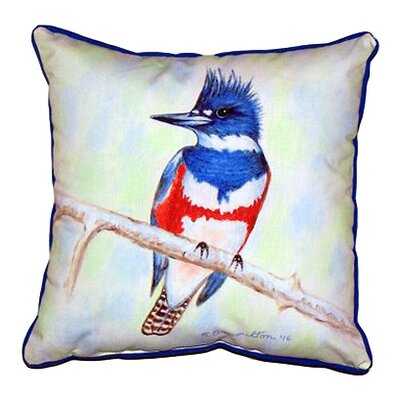 Kingfisher Outdoor Throw Pillow Size: Large