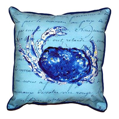 Script Crab Outdoor Lumbar Pillow Size: Small