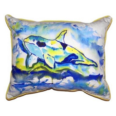 Orca Outdoor Lumbar Pillow Size: Large