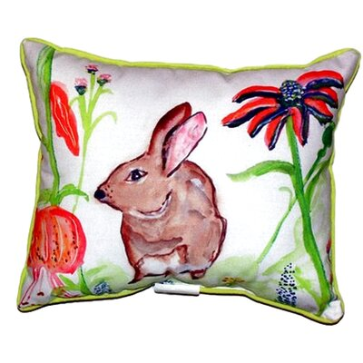 Rabbit Left Outdoor Lumbar Pillow Size: Small