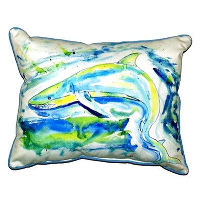 Shark Outdoor Lumbar Pillow Size: Large