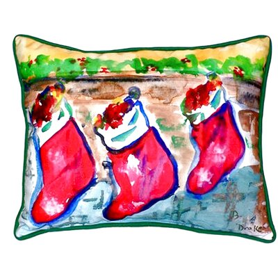 Christmas Stockings Outdoor Lumbar Pillow Size: Large