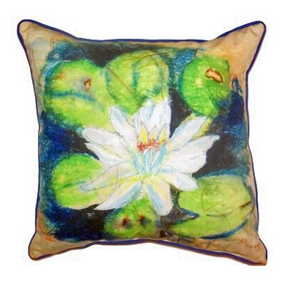Water Lily Outdoor Throw Pillow Size: Large