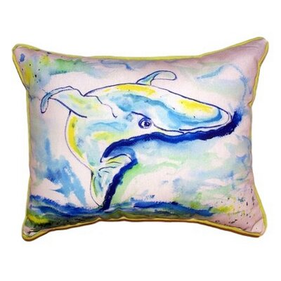 Whale Outdoor Lumbar Pillow Size: Large