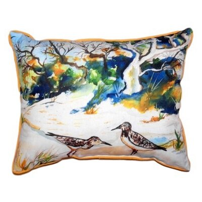 Tree & Beach Indoor/Outdoor Lumbar Pillow Size: Small