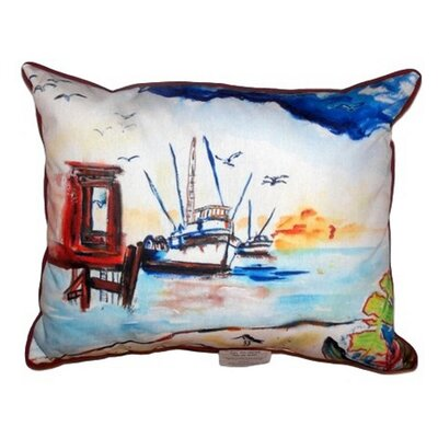 Dock & Shrimp Boat Indoor/Outdoor Lumbar Pillow Size: Extra Large