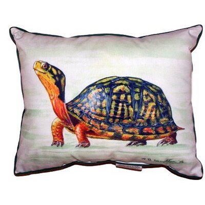 Happy Turtle Indoor/Outdoor Lumbar Pillow Size: Large