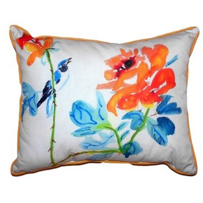 Bird & Roses Indoor/Outdoor Lumbar Pillow Size: Extra Large