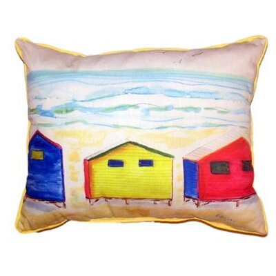 Beach Bungalows Indoor/Outdoor Lumbar Pillow Size: Large