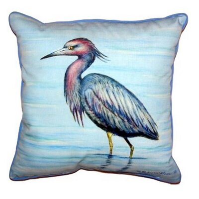 Little Heron Indoor/Outdoor Throw Pillow Size: Small