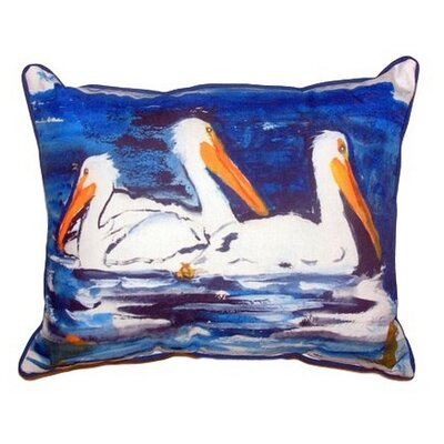 Three Pelicans Indoor/Outdoor Lumbar Pillow Size: Large