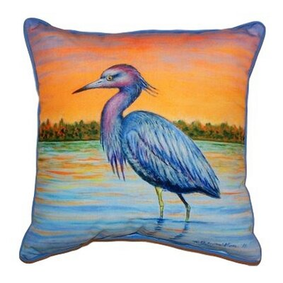 Heron & Sunset Indoor/Outdoor Throw Pillow Size: Small