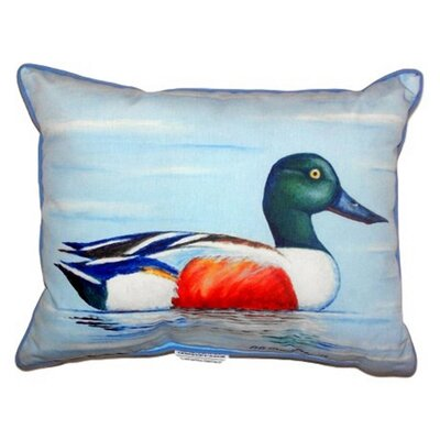 Northern Shoveler Indoor/Outdoor Lumbar Pillow Size: Small