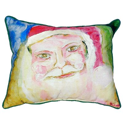 Santa Face Outdoor Lumbar Pillow Size: Small