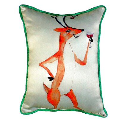 Deer Party Outdoor Lumbar Pillow Size: Small