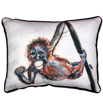 Monkey Indoor/Outdoor Lumbar Pillow Size: Small