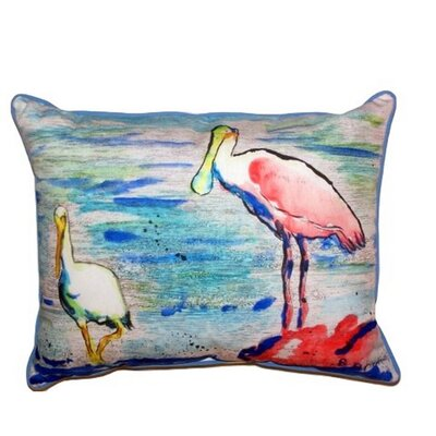 Spoonbill & Ibis Indoor/Outdoor Lumbar Pillow Size: Small