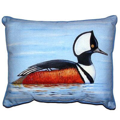 Hooded Merganser Indoor/Outdoor Lumbar Pillow Size: Large