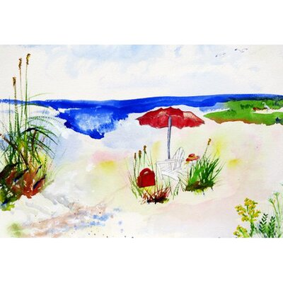 Beach Umbrella Doormat Mat Size: Rectangle 26 x 42