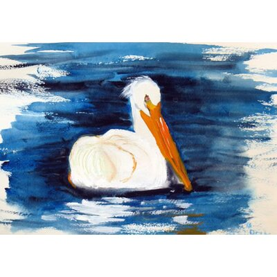 Spring Creek Pelican Doormat Rug Size: Rectangle 16 x 22