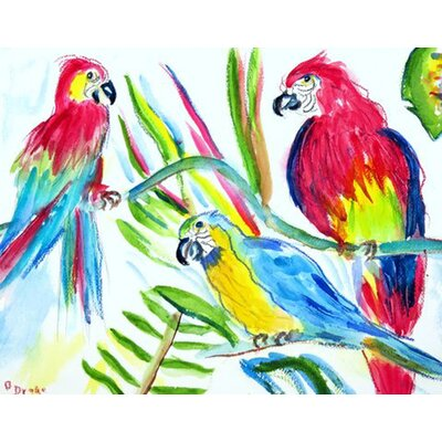 Three Parrots Doormat Rug Size: Rectangle 16 x 22