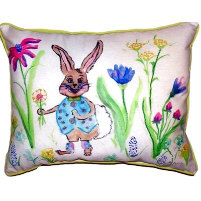 Happy Bunny Outdoor Lumbar Pillow Size: Extra Large