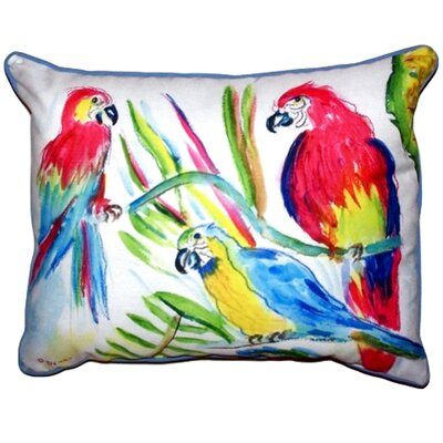 Three Parrots Outdoor Lumbar Pillow Size: Large
