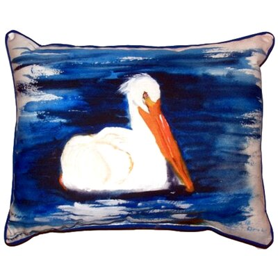 Spring Creek Pelican Outdoor Lumbar Pillow Size: Small