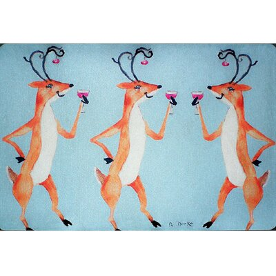Deer Party Doormat Mat Size: Rectangle 26 x 42