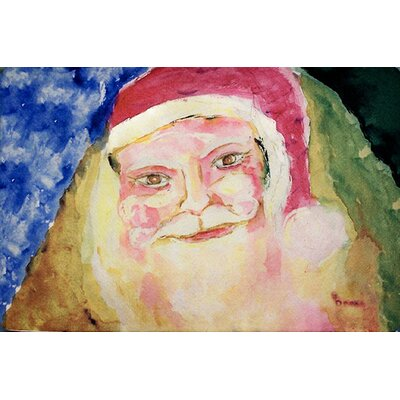 Santa Face Doormat Mat Size: Rectangle 16 x 22