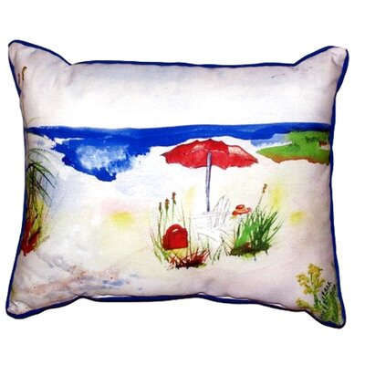 Beach Umbrella Outdoor Lumbar Pillow Size: Large