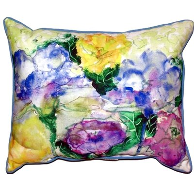 Watercolor Garden Outdoor Lumbar Pillow Size: Large