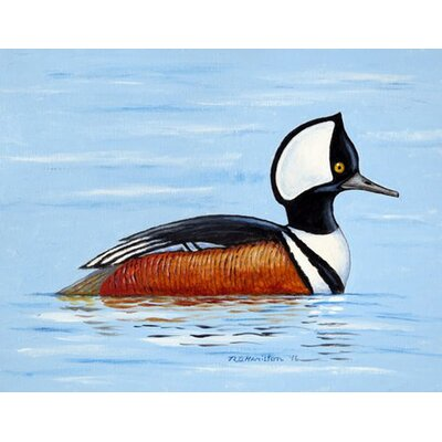 Hooded Merganser Doormat Mat Size: Rectangle 16 x 22