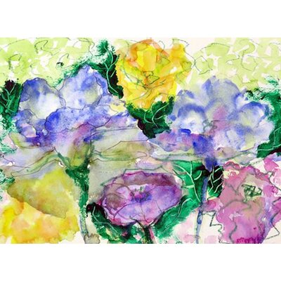 Watercolor Garden Doormat Rug Size: 26 x 42