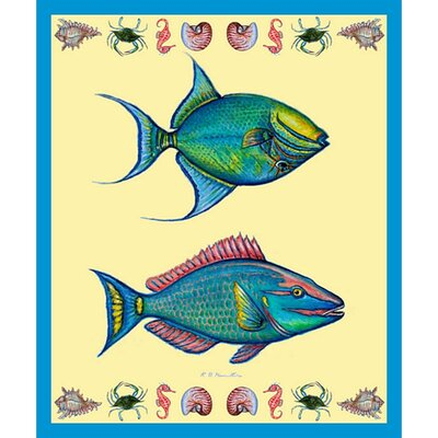 Parrot and Trigger Fish Throw