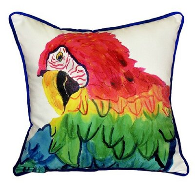Parrot Head Indoor/Outdoor Throw Pillow Size: Small