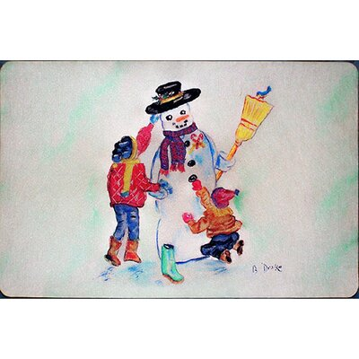 Snowman Doormat Mat Size: Rectangle 25  x 41