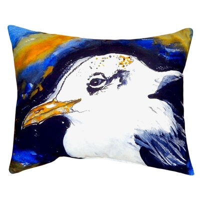 Gull Portrait Indoor/Outdoor Lumbar Pillow