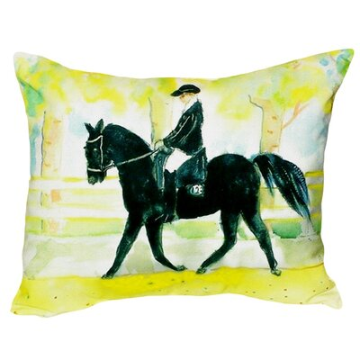 Horse and Rider Indoor/Outdoor Lumbar Pillow