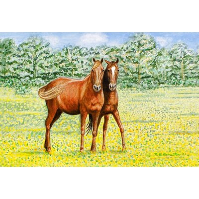 Pets Horses Doormat Mat Size: Rectangle 18 x 26