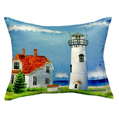 Chatham MA Lighthouse Indoor/Outdoor Throw Pillow