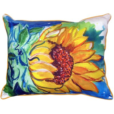 Windy Sunflower Indoor/Outdoor Lumbar Pillow Size: Large