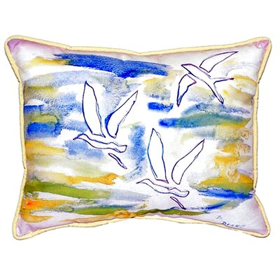 Three Gulls Indoor/Outdoor Lumbar Pillow Size: Small