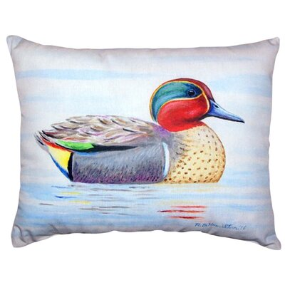 Teal Wing Indoor/Outdoor Lumbar Pillow