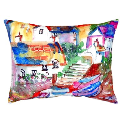 Boats At Steps Indoor/Outdoor Lumbar Pillow